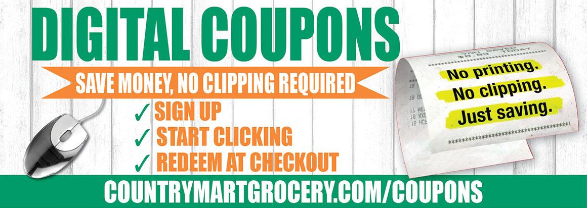 Digital Coupons – No Printing. No Clipping. Just Saving.
